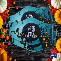 Gray Wolf Costume Group Easy Outfi For Halloween Halloween Shops Near Me Cloth Face Mask Gift %tag familyloves.com