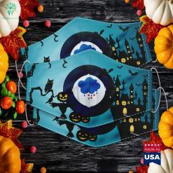 Grumpy Bear Family Costume Halloween Edition Mens Womens Halloween Font Cloth Face Mask Gift %tag familyloves.com