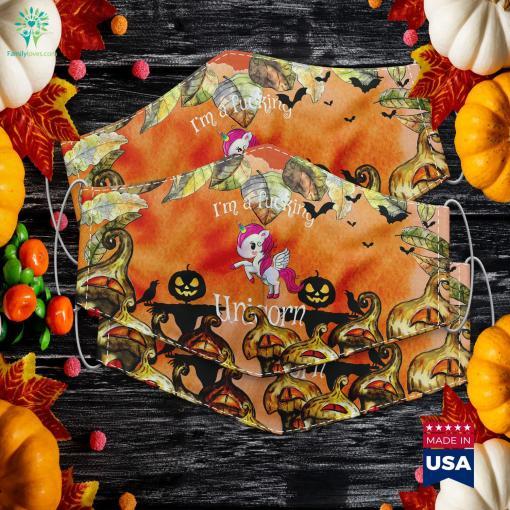 Im A Fucking Unicorn Unicorn Halloween Costume Tee Halloween Costume Places Cloth Face Mask Gift %tag familyloves.com