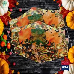Jamaican Skeleton Costume Halloween Reggae Gift Jamaica Flag All About Halloween Cloth Face Mask Gift %tag familyloves.com