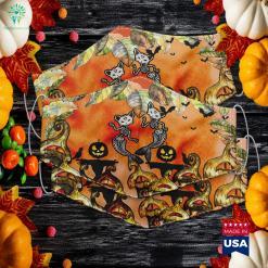 Kitty Cat Mermaid Skeleton Halloween Fantasy Halloween Costumes 2020 Cloth Face Mask Gift %tag familyloves.com