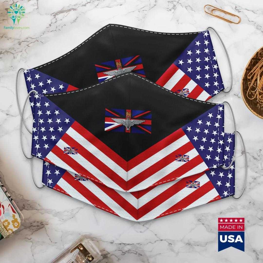 Parachute Regiment Uk Every Man An Emperor Captain Ranks Cloth Face Mask Gift %tag familyloves.com