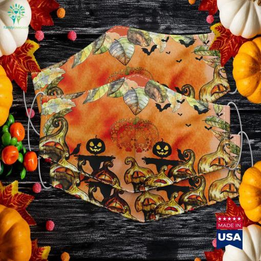 Paw Print Pumpkin Halloween Halloween Costume Halloween Chronicles Monsters Among Us Cloth Face Mask Gift %tag familyloves.com