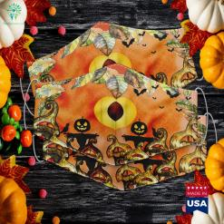 Peach Fruit Halloween Costume Halloween Treats Cloth Face Mask Gift %tag familyloves.com