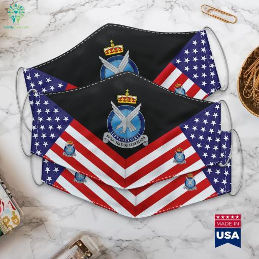 Royal Norwegian Air Force Rnoaf Luftforsvaret Us Military Singles Cloth Face Mask Gift %tag familyloves.com