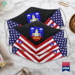 Sainte Mere Eglise Normandy 505Th Parachute Infantry Regiment Colonel Rank Cloth Face Mask Gift %tag familyloves.com