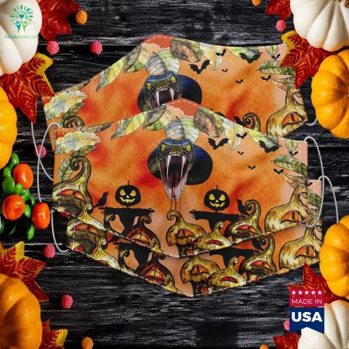 Scary Black Mamba Snake Halloween Costume Gift Halloween Original Movie Cloth Face Mask Gift %tag familyloves.com