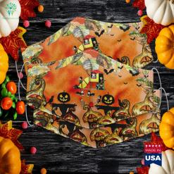 Scary Playground Halloween Horror Similarities Between Halloween And Dia De Los Muertos Cloth Face Mask Gift %tag familyloves.com