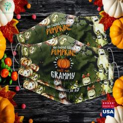The Cutest Little Pumpkins Call Me Grammy Halloween Gift Halloween Costume Stores Cloth Face Mask Gift %tag familyloves.com