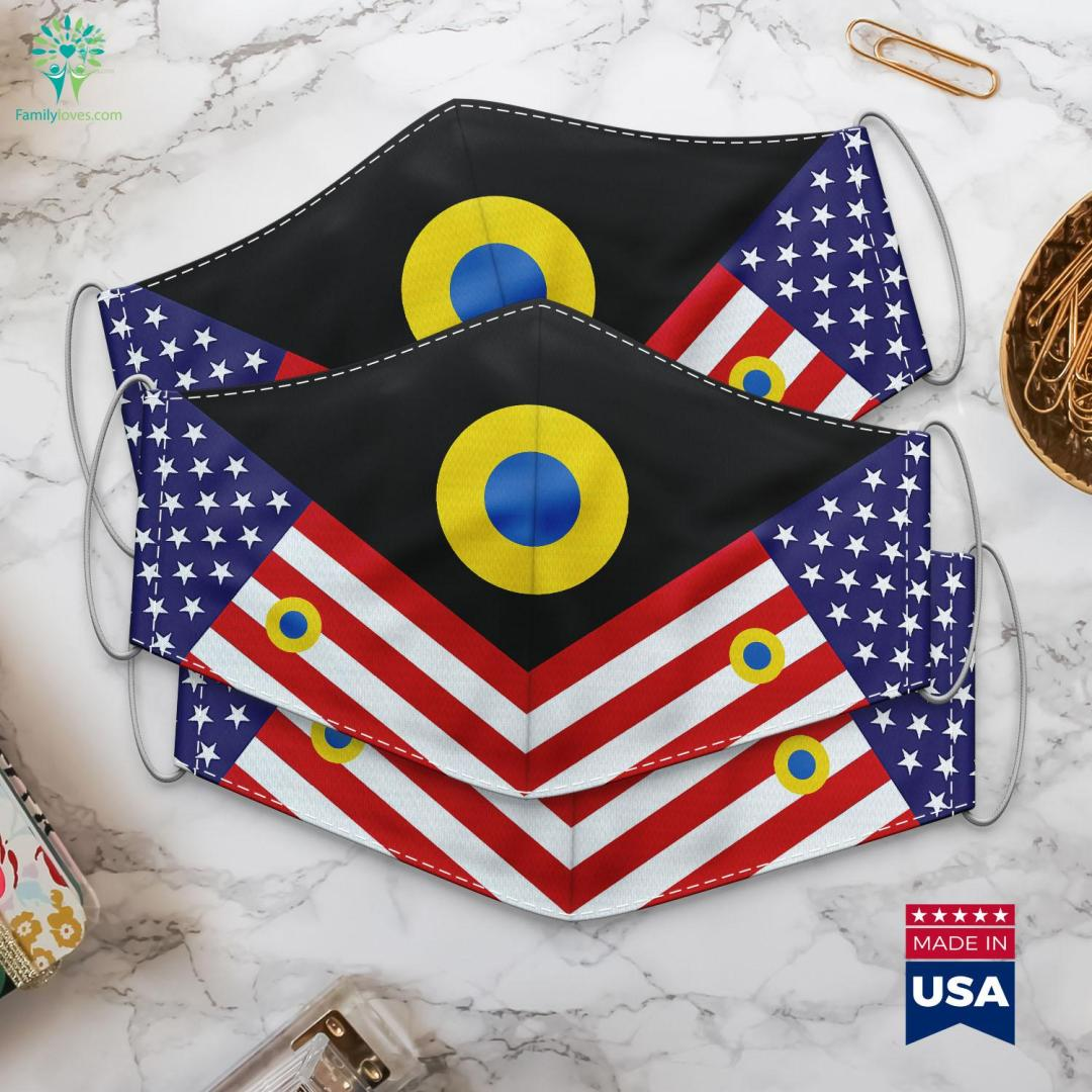 Ukrainian Air Force Roundel Military Ranks Us Army Cloth Face Mask Gift %tag familyloves.com