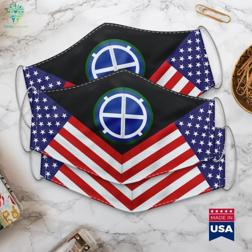 Us Army 35Th Infantry Division Ssi What Are The Ranks In The Army Cloth Face Mask Gift %tag familyloves.com