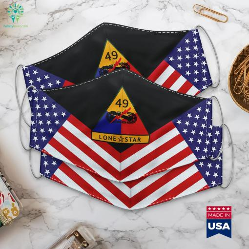 Us Army 49Th Armored Division Ssi Military Sayings Cloth Face Mask Gift %tag familyloves.com