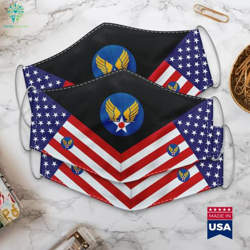 Us Army Air Corps Hap Arnold Wings All Military Ranks Cloth Face Mask Gift %tag familyloves.com