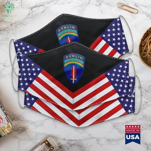 Us Army Army Berlin Ssi Military Ranka Cloth Face Mask Gift %tag familyloves.com