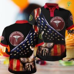 Us Army Flag Medical Service Corps Plaque Polo Shirt All Over Print %tag familyloves.com