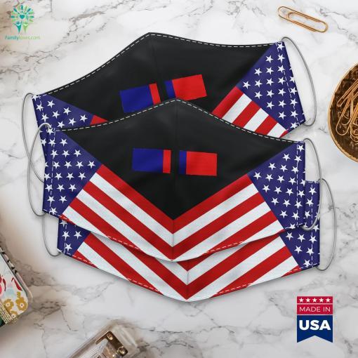 Us Army Kosovo Campaign Ribbon Military Police Army Cloth Face Mask Gift %tag familyloves.com