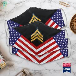 Us Army Sergeant E 5 Army Eagle Logo Cloth Face Mask Gift %tag familyloves.com
