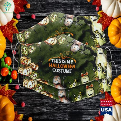 Vintage This Is My Halloween Costume Clearance Halloween Costumes Cloth Face Mask Gift %tag familyloves.com