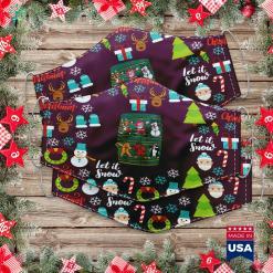 Walmart Christmas Lights Dabbing Christmas Squad Santa Xmas Dab Kids Boys Girls Raglan Cloth Face Mask Gift %tag familyloves.com