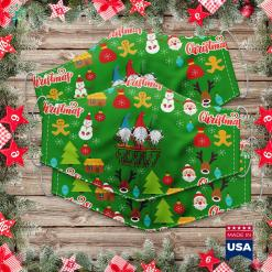 White Christmas Lyrics Gnomes Made Me Do It Nordic Santa Gnome Christmas Raglan Cloth Face Mask Gift %tag familyloves.com