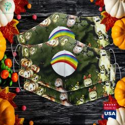 Womens Adult Bear Cheer Rainbow Costume Halloween Edition Easy To Make Halloween Costumes Cloth Face Mask Gift %tag familyloves.com
