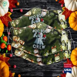 Womens Boo Boo Crew Nurse Ghost Halloween Girls Costume Gift Up Halloween Costume Baby Cloth Face Mask Gift %tag familyloves.com