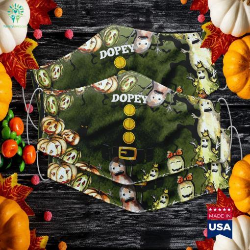 Womens Dopey Dwarf Halloween Costume Idea Doc Dwarf Top Easy Costume Ideas Cloth Face Mask Gift %tag familyloves.com