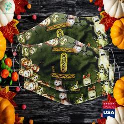 Womens Gold Crayon Box Full Set Of Crayons Halloween Costume Halloween Jokes Cloth Face Mask Gift %tag familyloves.com