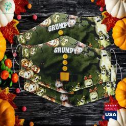 Womens Grumpy Dwarf Costume Halloween Christmas Gift Grumpy Spirit Store Costumes Cloth Face Mask Gift %tag familyloves.com