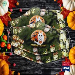Womens Pretend Im A Cat Ghost Halloween Costume Halloween Kills Cast Cloth Face Mask Gift %tag familyloves.com