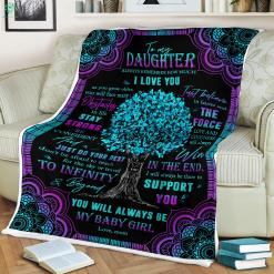 To My Daughter Always Remember How Much I Love Mom Sherpa Fleece Blanket %tag familyloves.com