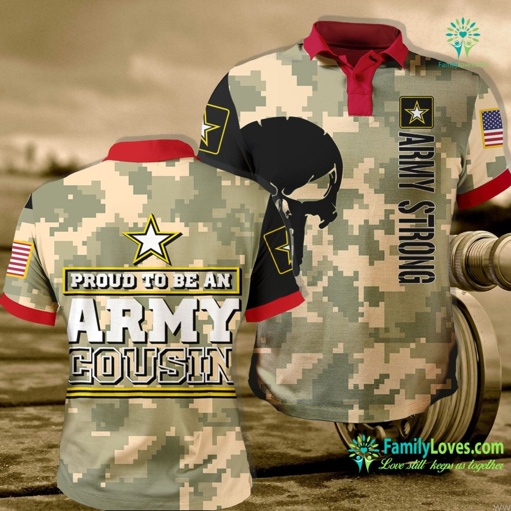 National Guard Boot Camp Proud Army Cousin Proud To Be An Army Cousin Army Polo Shirt All Over Print Familyloves.com