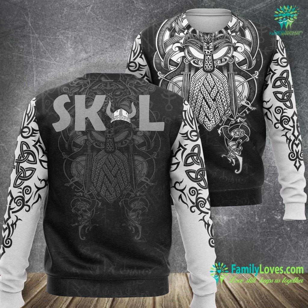 Nordic Meaning Skol Vikings Fan Helmet Viking Sweatshirt All Over Print Familyloves.com