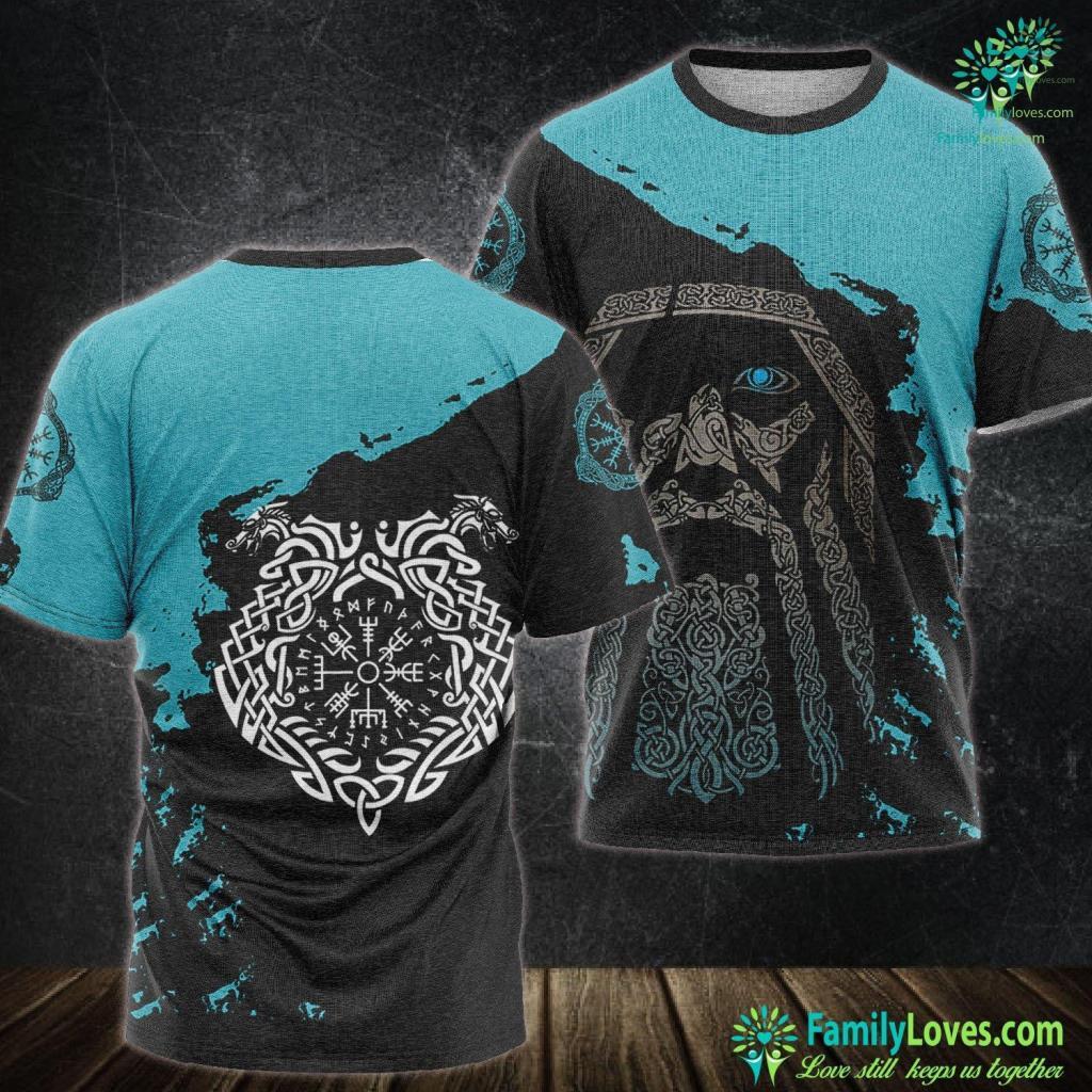 Norse Elves Celts Viking Celtic Art From The Viking Gods Odin And Thor Viking Unisex Tshirt All Over Print Familyloves.com