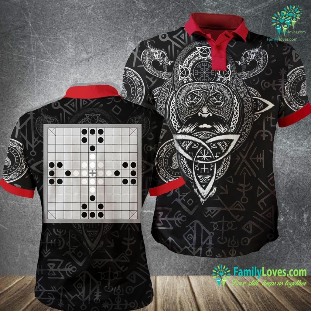 Norse Gods And Giants Hnefatafl Tafl Viking Nordic Celtic Board Game Tawlbyund Viking Polo Shirt All Over Print Familyloves.com