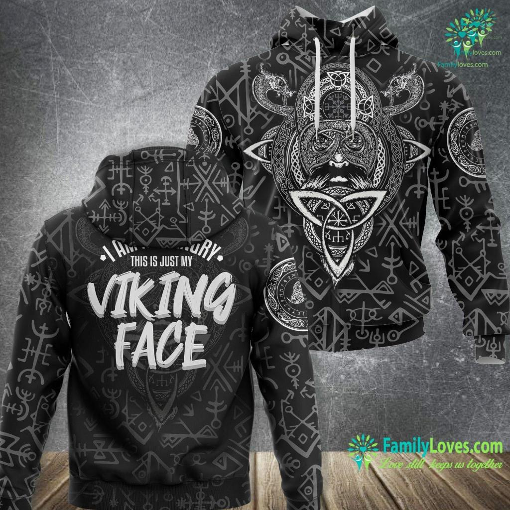 Runes And Their Meanings I Am Not Angry This Is Just My Viking Face W Viking Unisex Hoodie All Over Print Familyloves.com