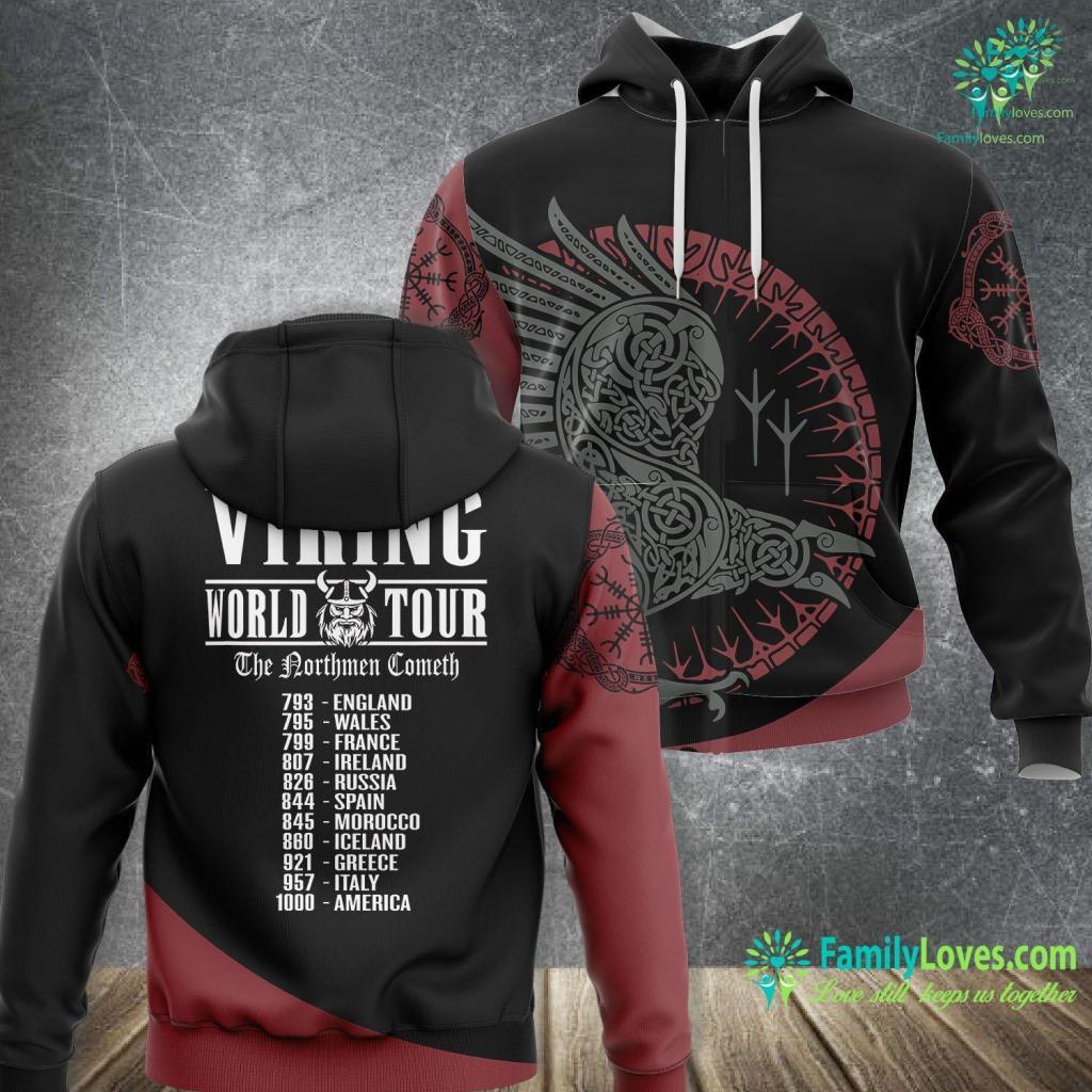 Uruz Viking World Tour The Northmen Cometh Viking Unisex Hoodie All Over Print Familyloves.com