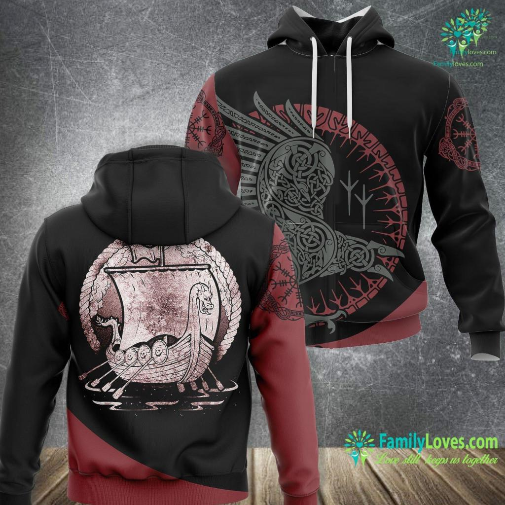 Viking Alaska Cruise Vintage Norse Viking Ship Viking Unisex Hoodie All Over Print Familyloves.com