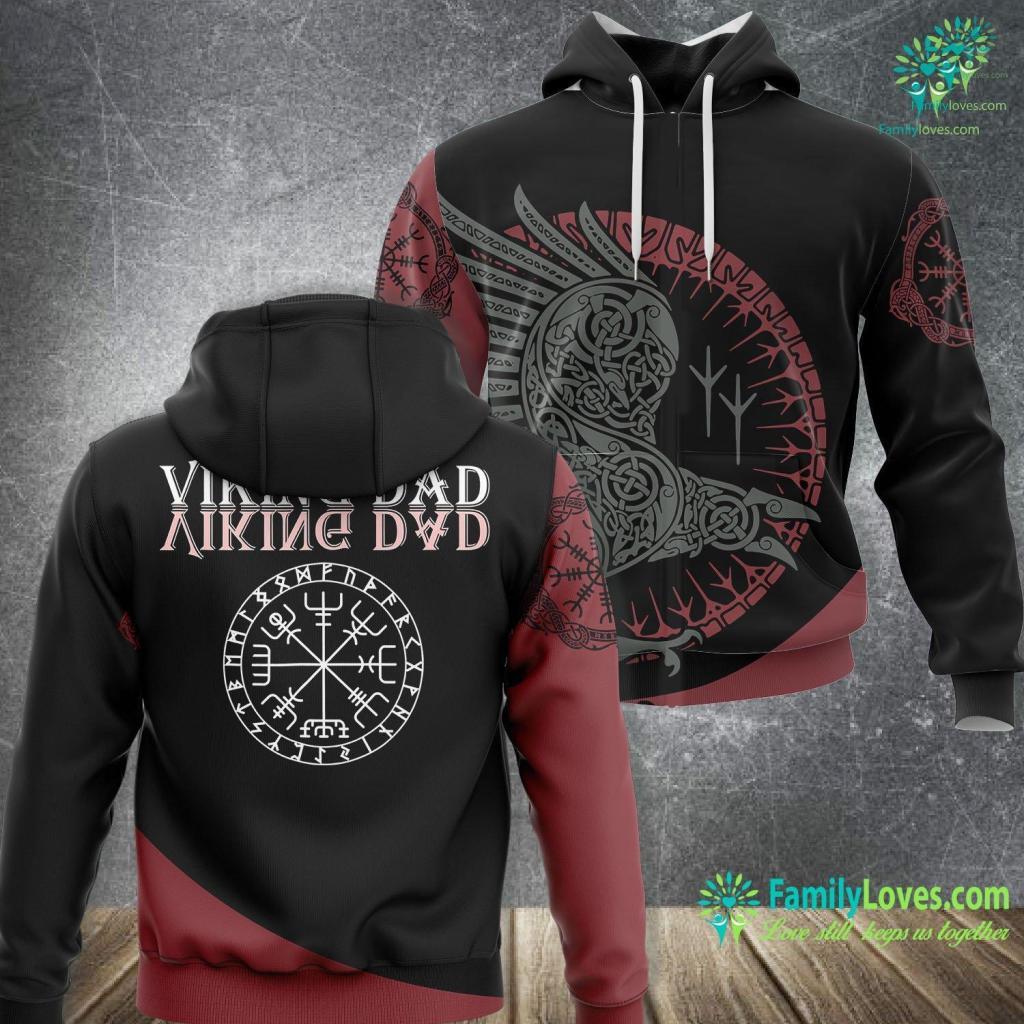 Viking Blod Mead Viking Dad Viking Unisex Hoodie All Over Print Familyloves.com