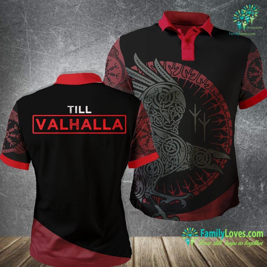 Viking Boots Till Valhalla Viking Warrior Viking Polo Shirt All Over Print Familyloves.com