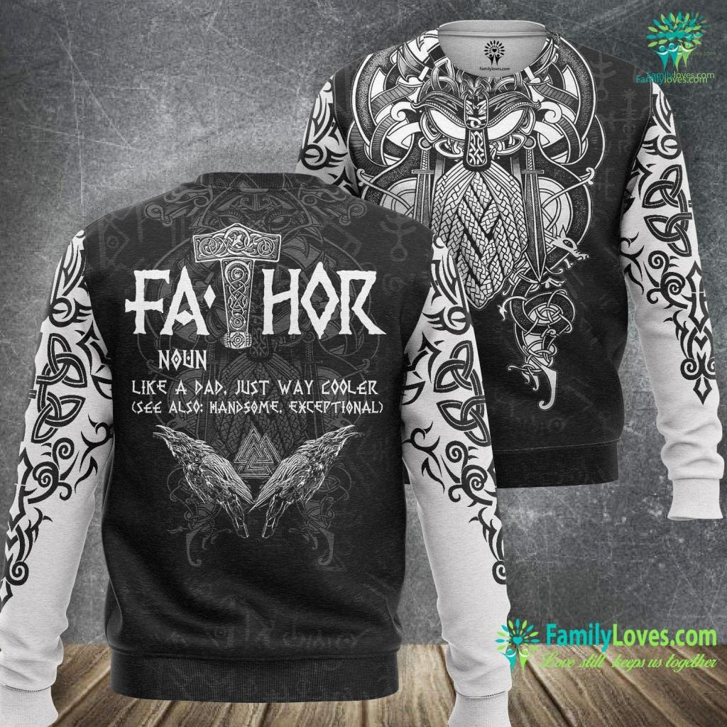Viking Cruise Stock Mens Fa Thor Like Dad Hugin And Munin Valknut Gift Viking Sweatshirt All Over Print Familyloves.com