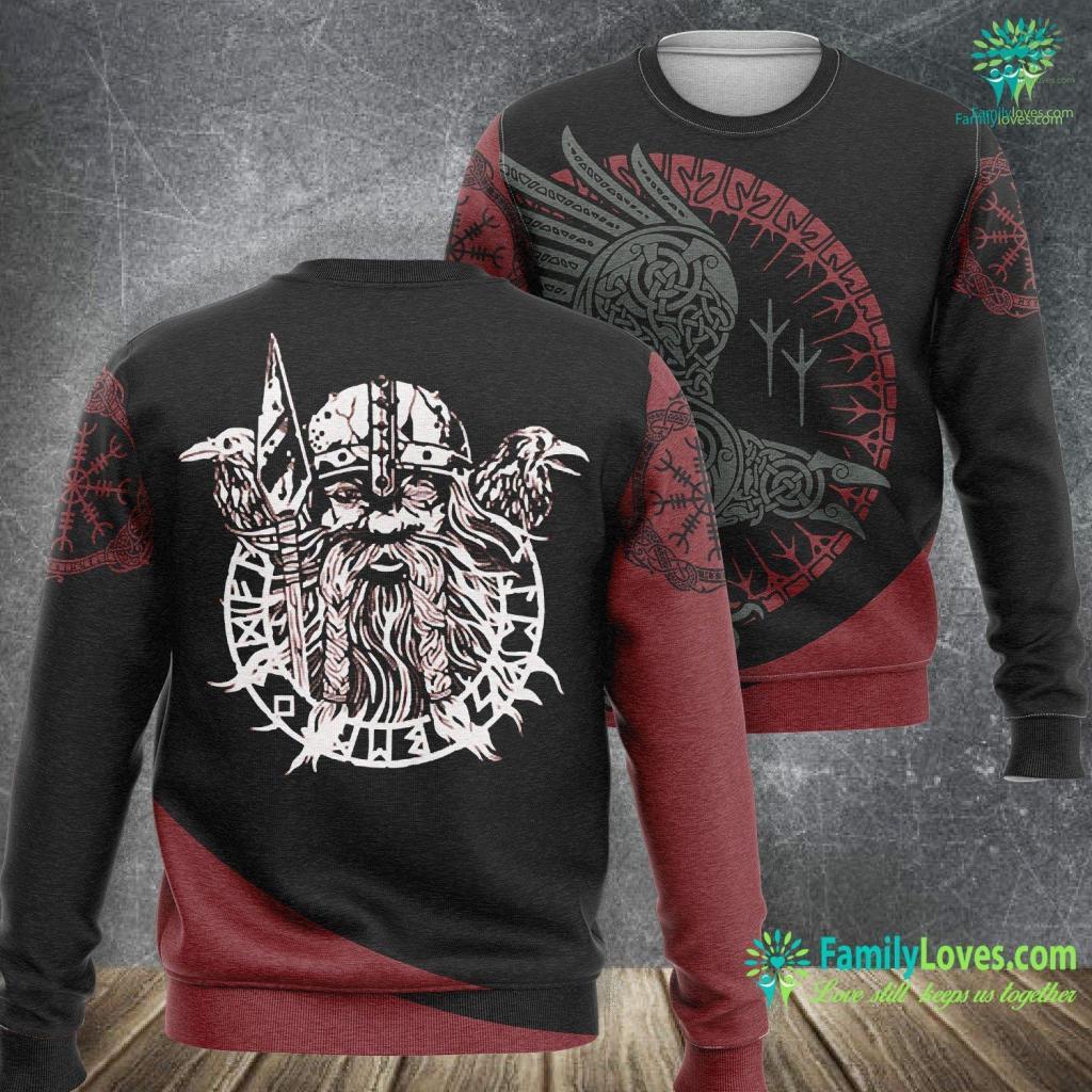 Viking Food Delivery Viking World Tour God Nordic Odin Norse Masculine Alpha Men Viking Sweatshirt All Over Print Familyloves.com