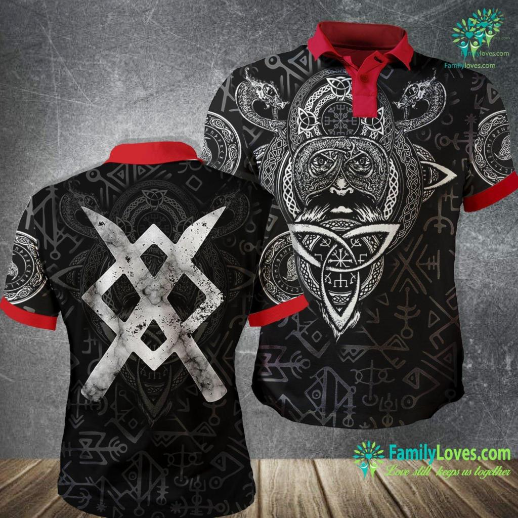 Viking House Gungnir Odin S Spear Rune Gar Viking Norse Magic Viking Polo Shirt All Over Print Familyloves.com