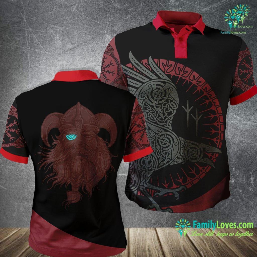 Viking Range Top Vikings Odin Norse Mythology Tee Viking Polo Shirt All Over Print Familyloves.com