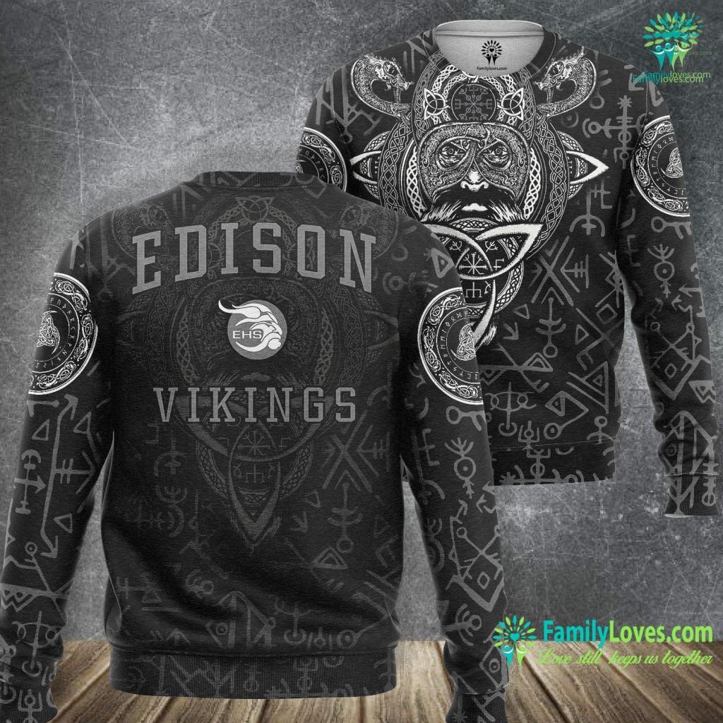 Viking Runes And Meanings Edison High School Vikings C1 Viking Sweatshirt All Over Print Familyloves.com
