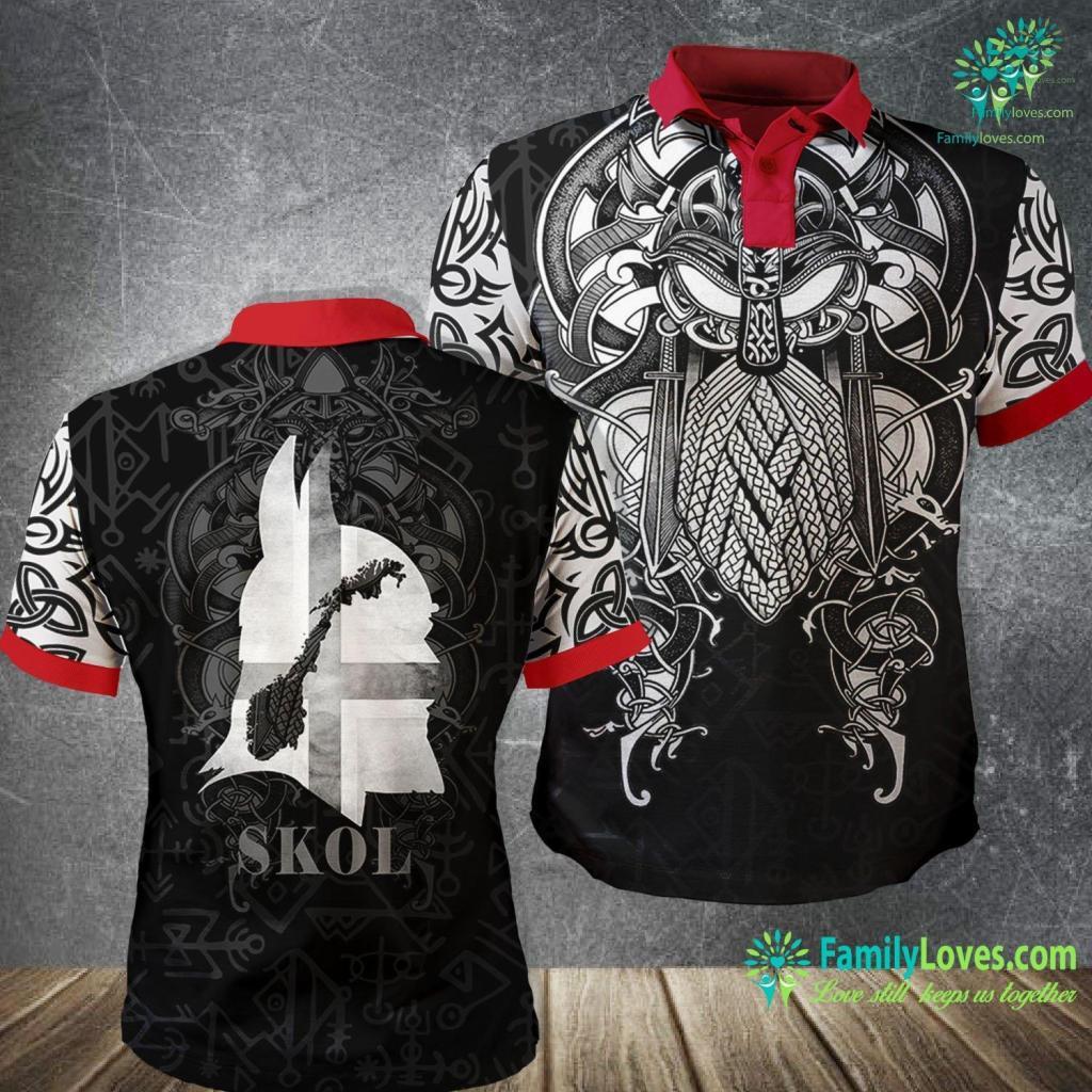 Viking Update Skol Helmet Vikings Mn For Mens Viking Polo Shirt All Over Print Familyloves.com