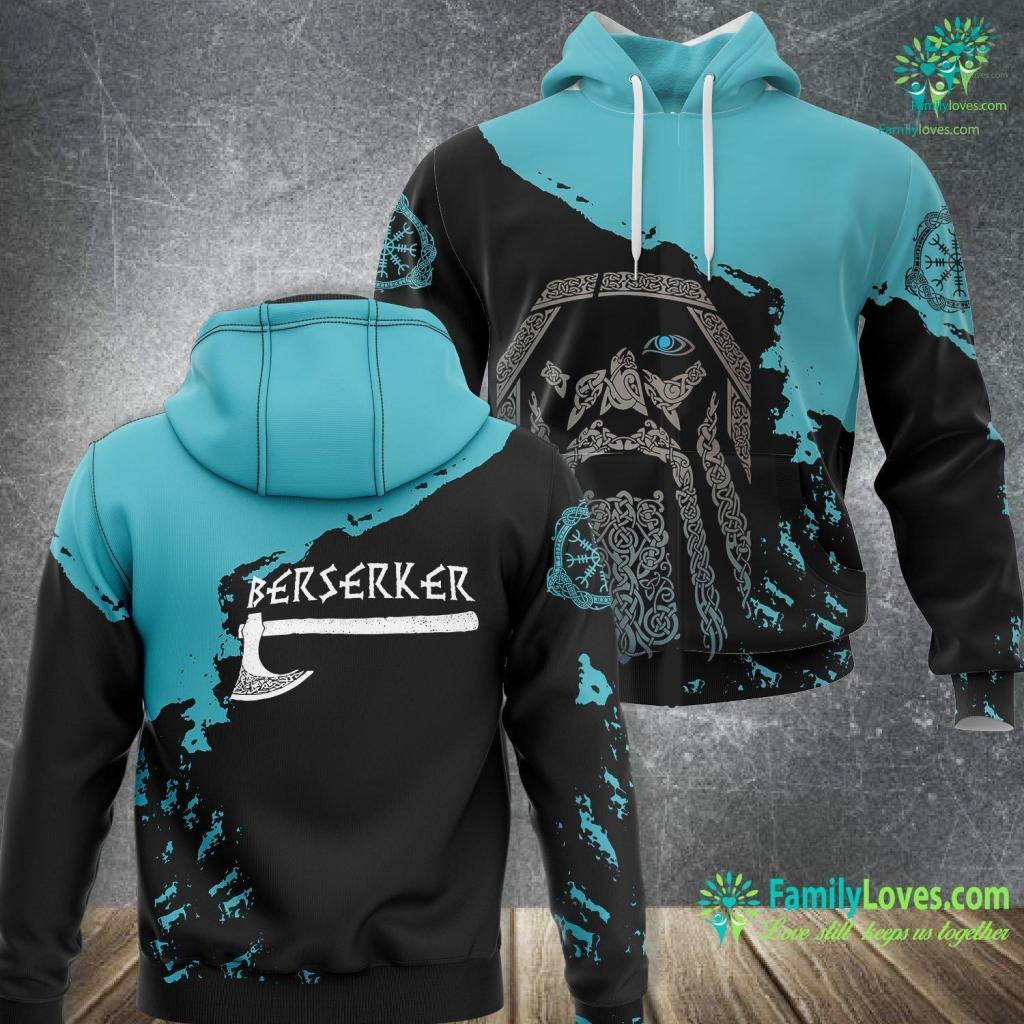Young Ragnar Berserker Axe Viking Warrior Viking Unisex Hoodie All Over Print Familyloves.com