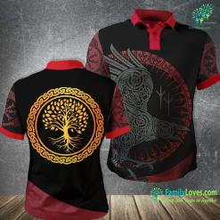 Yule Symbols Yggdrasil Nordic Viking Tree Of Life Viking Polo Shirt All Over Print