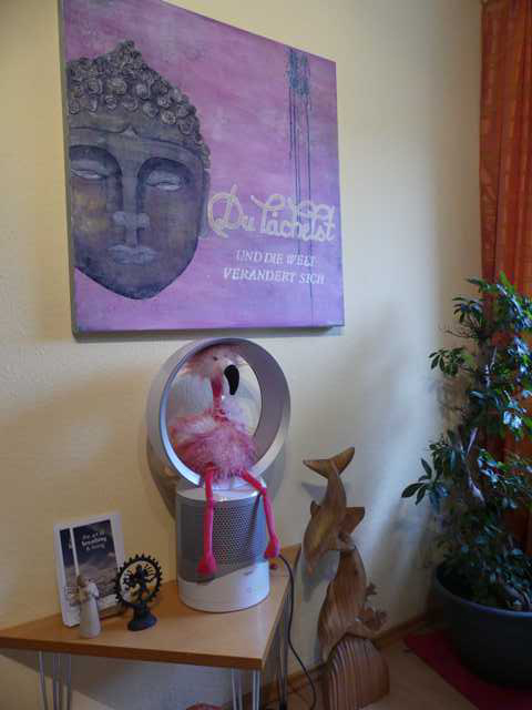 Unser Dyson Cool Link Luftreiniger. Da hat sogar unser Flamingo Freude dran!