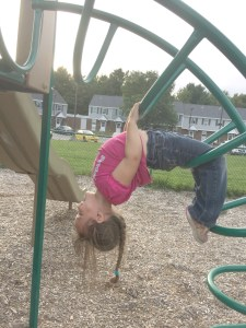 This is my granddaughter. I hope she is flexible and strong al of her life. I support this dangerous activity.